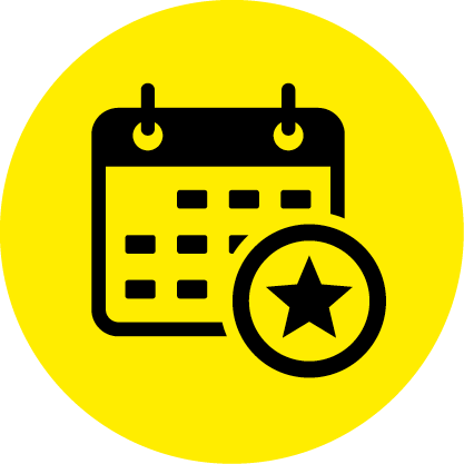 events yellow circle