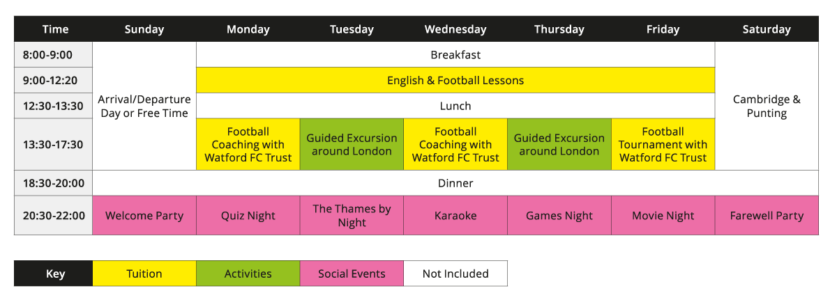 English-and-football-academy-weekly-schedule